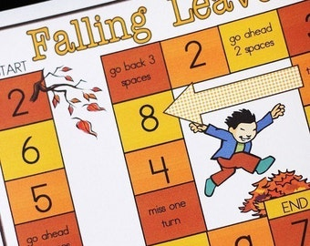 Falling Leaves Printable Game and Skill Sheet