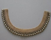 RESERVED - Vintage 1950's Pearl and Beaded Collar - Reserved for Jeni