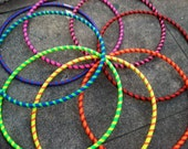Custom Toddler Hula Hoop Simple Stripes 25 inch outside diameter choose two colors - whoopkat