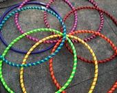 Custom Toddler Hula Hoop Simple Stripes 25 inch outside diameter choose two colors