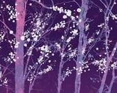 Tree Art Forest Modern Contemporary - 8x10 Print - Make it Through (purple)