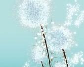 Perennial Moment (aqua) - 12x18