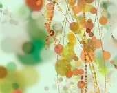 Hanging Beads - 8x10 Print - Green Orange Light Blue