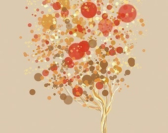 Contemporary Tree Art - Candy Bubble Tree - 8x10