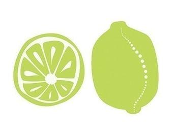 Limes Art Print Kitchen Art - 8x10 Print - Lime Green Modern Contemporary