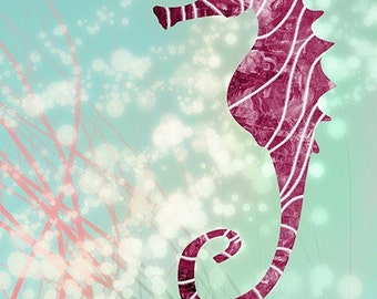 Seahorse - 24x36 LARGE Print Modern wall art Home decor