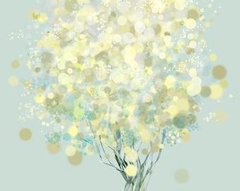 Lemon Bubble Tree - 12x18 Print
