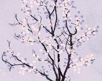 Purple Tree Blossoms Art Print - Dancer in the Dark (lavender) - 12x18 Print