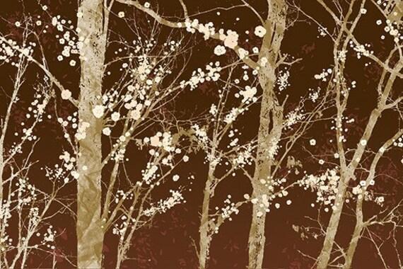 Forest Art - 24x36 LARGE Art Print - Make it Through (brown)