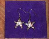 Starfish shaped glass earrings