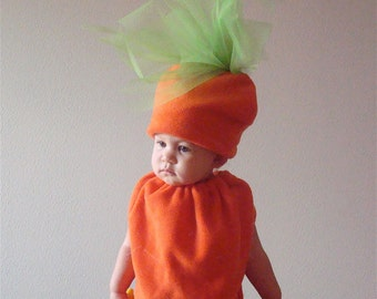 Baby Costume Toddler Costume Halloween Costume Carrot Costume