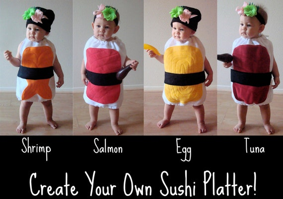 Delicious Nigiri Sushi Kids Halloween Costume
