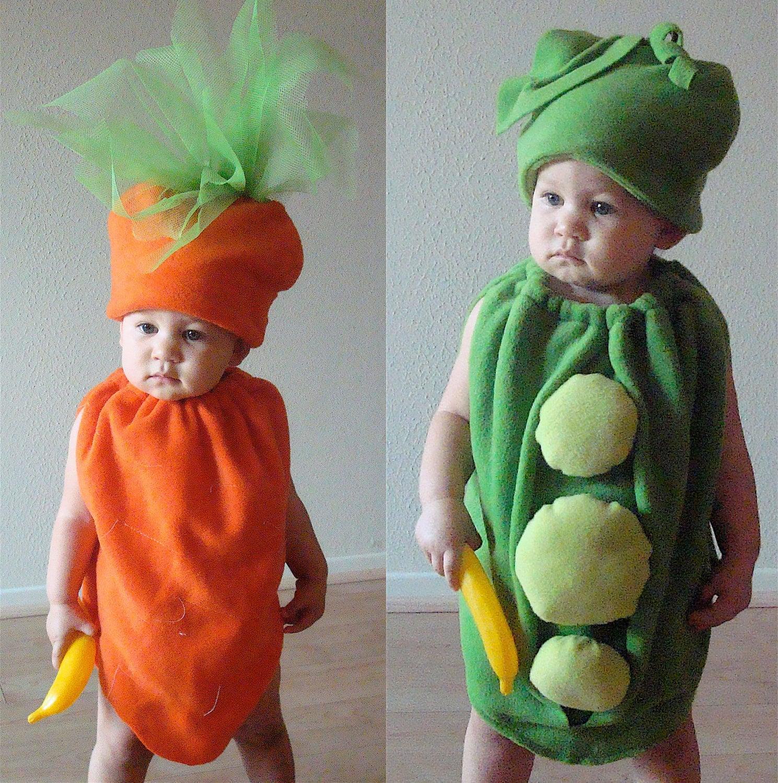 Twin set peas and carrots kids costumes - Disfraces bebe halloween ...