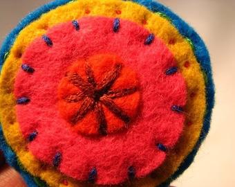 Small handmade felt brooch