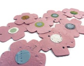 Pink Seed Paper Flower Favors - 20 count - 3 inch