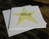 "Seed Paper Star Favor Card - ""You Rock"""