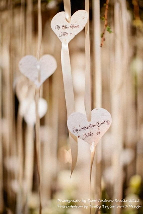 Wildflower Seeded Paper Heart Favors - 50 count - 3 inch