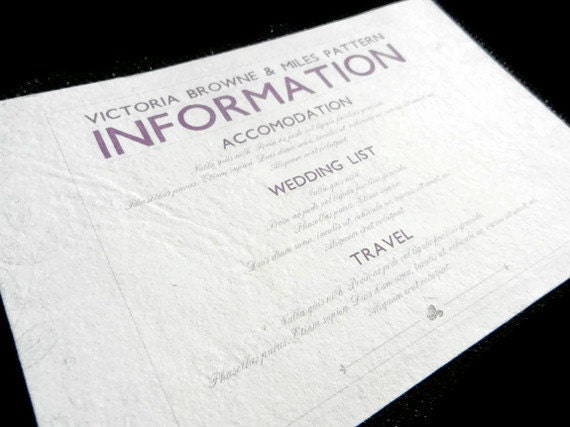 Wedding Invite Information: Information Card Inserts For Wedding Invitations 20
