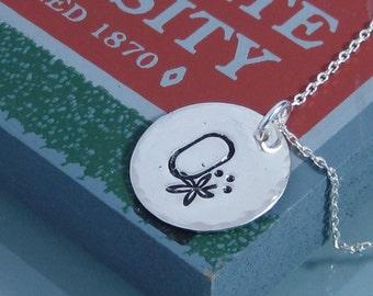 OSU BUCKEYE  Handstamped necklace.