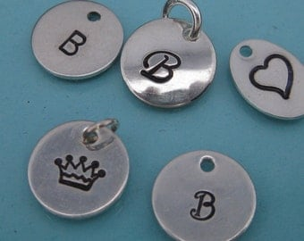 Add On Single Small Tag Hand Stamped Initial/Accent Charm