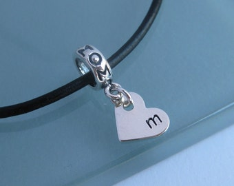 MOTHER'S DAY The Mommy Initial Charm/Bead -For Add-a-bead bracelet- LIMITED edition - Bracelet not included
