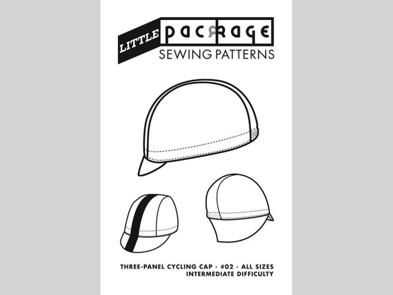 Cycling Cap Sewing Pattern: Three Panel Style