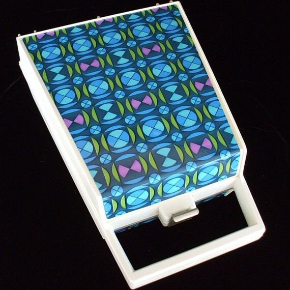 Electric Hot Rollers Curlers Geometric Patterned Case Vintage 60s