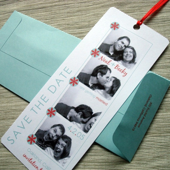 Photo Booth Photo Strip Wedding Save the Date - DIY File