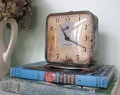 RESERVED for SHELLY - Treasury Item - Vintage Golden Arrow Wind-Up Alarm Clock by Ingraham