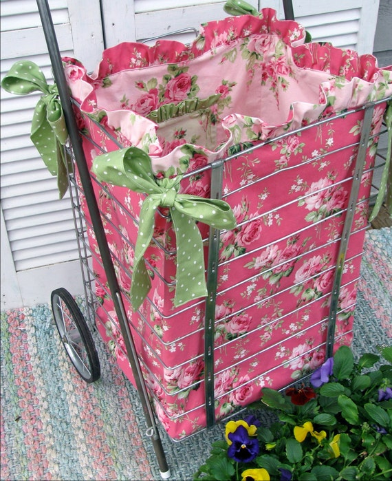 PDF Sewing Pattern/Tutorial for Market Cart Ruffled Fabric Liner