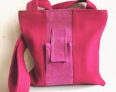 Upcycled bag:  Fuchsia FlatGirl