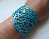 butterfly wing bracelet - turquoise