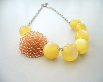 The yellow series necklace 2