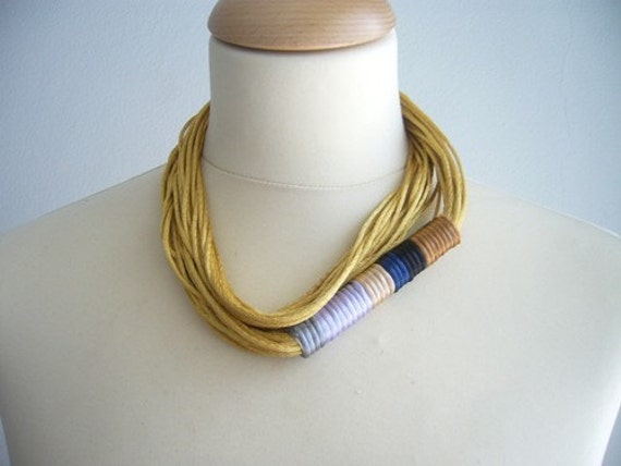 Satin and gold necklace