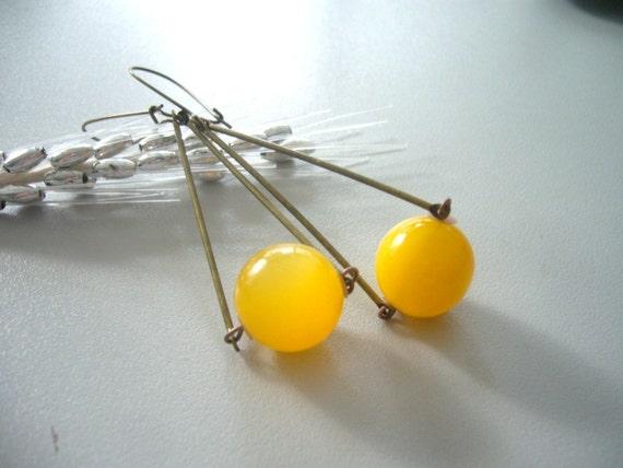 Yellow moonglow earrings