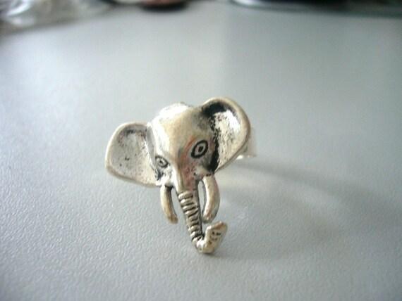 Silver elephant ring 2
