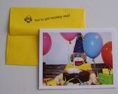 Monkey Moments Sock Monkey Birthday Card B1
