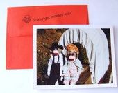 hilarious sock monkey Anniversary Card by Monkey Moments S9