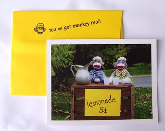 funny encouragement card by Monkey Moments A9