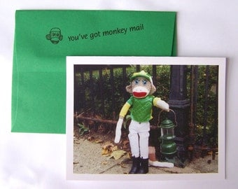 quirky encouragement card by Monkey Moments A12