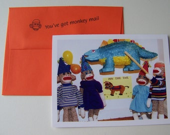 Monkey Moments Sock Monkey Birthday Card B9