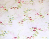 Rachel Ashwell Lingerie White Pink cotton poplin Shabby Chic Home Collection fabric