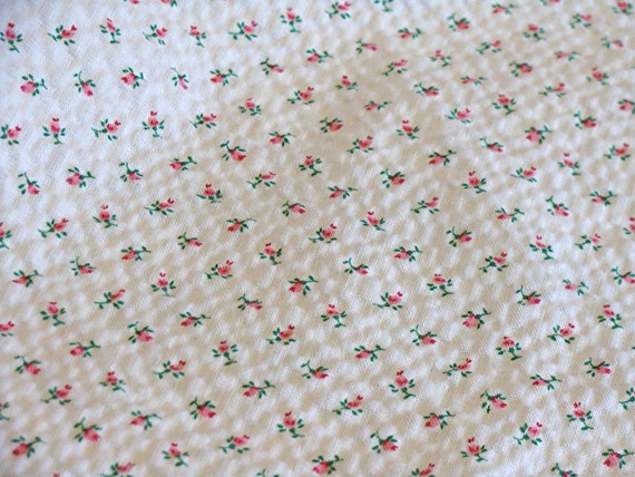 Blue Hearts And Roses And Stars Vintage cotton Plisse ...