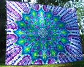 Tie Dye Mandala Tapestry by GratefulDan 65 inches x 83 inches (ready to ship)