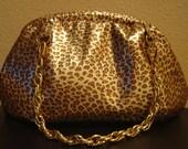 leopard print leather handbag