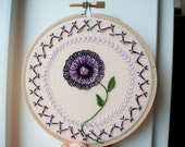 reserved for melanie - hand embroidered hoop art - freeform embroidery in 4 inch hoop by bo betsy - free shipping