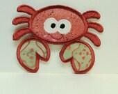 Rose Crab Embroidered Applique -100250