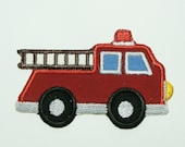 Fire Truck Embroidered Applique -100197