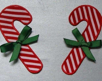Candy Canes Embroidered Appliques-100122