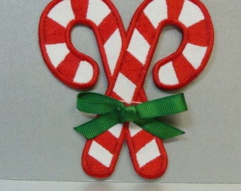 Candy Canes Embroidered Applique DIY Clothing Patch-100163